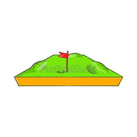 golf course icon cartoon style