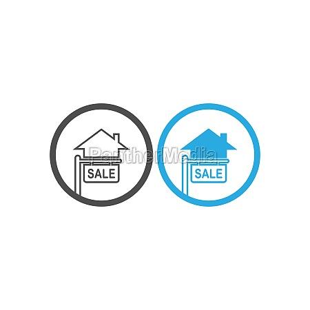 house icon logo simple design template