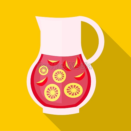 drink sangria icon flat style