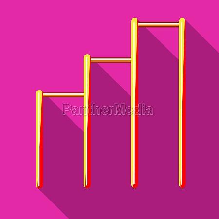 three horizontal bars icon flat style
