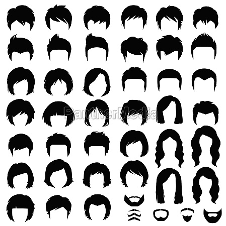 vector hairstyle silhouette