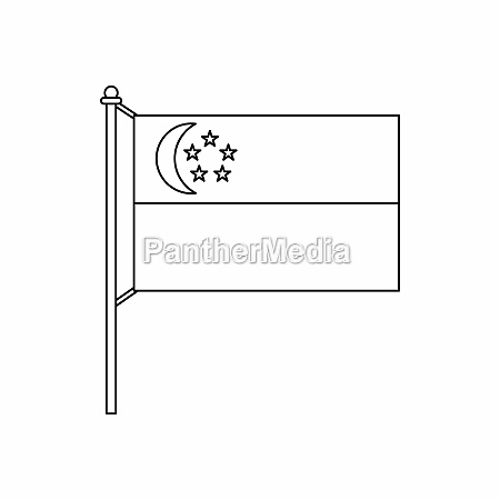 flag of singapore icon outline style