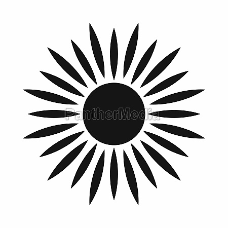 sun icon simple style