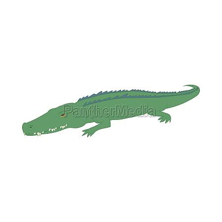 crocodile icon cartoon style