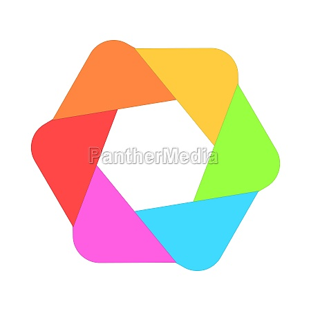 multicolored abstract circle icon cartoon style