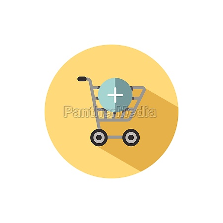 shopping cart add product flat icon