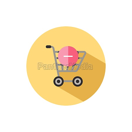 shopping cart delete product flat icon