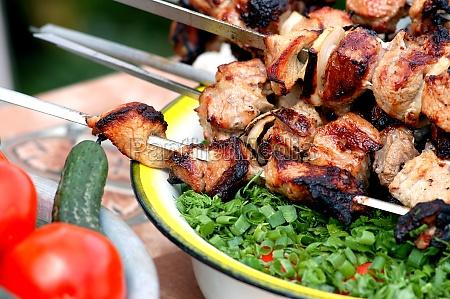 grill vegetables fruit cook