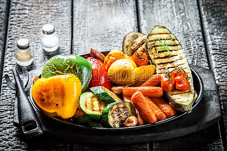 grill vegetables fruit cook