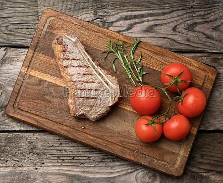 fried beef steak new york striploin