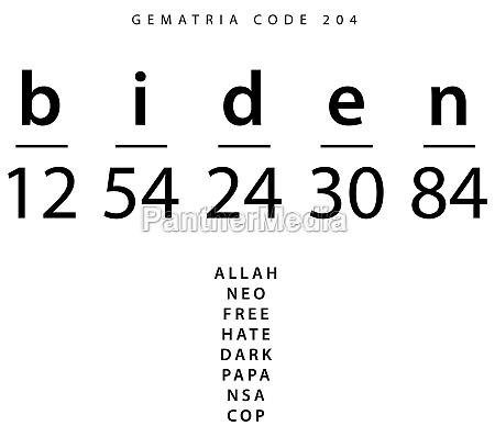 biden word code in the english