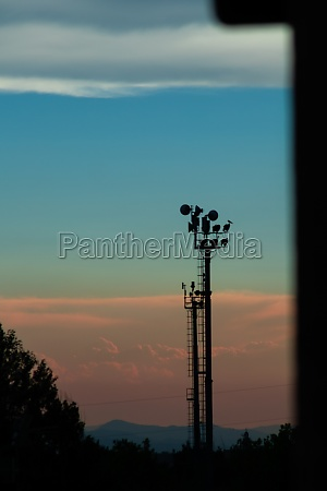 sunset with clouds in summer from