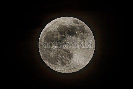 the full moon in the night
