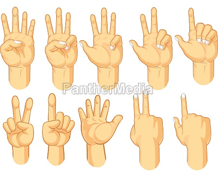 hand gesture learn counting fingers symbol