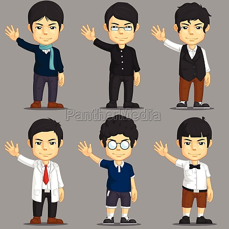 dress up game character asset