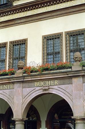 house facade in leipzig