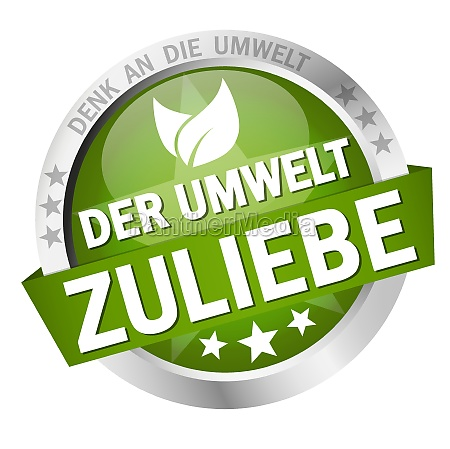 button with banner for the environment