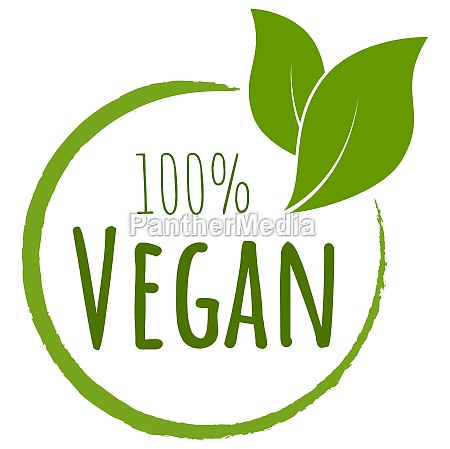 modern green stamp 100 vegan