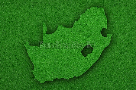 map of south africa on green