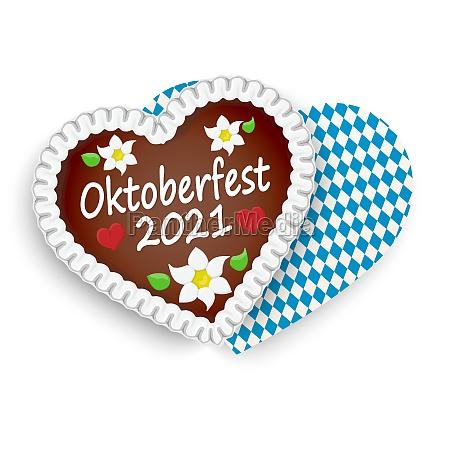 gingerbread heart oktoberfest 2021