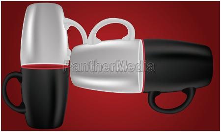mockup illustration of coffee mug on