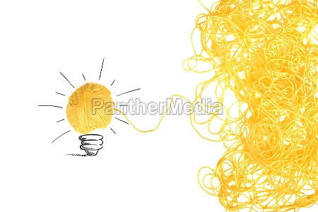 concept of idea and innovation with