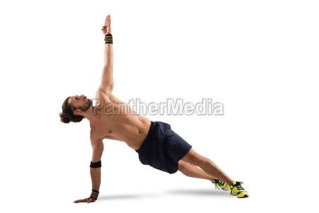 pilates posing
