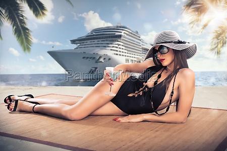 luxury tropical cruise voyage