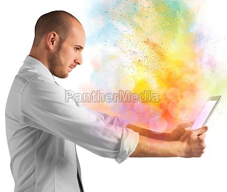 tablet colour burst