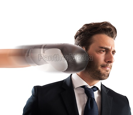 punched businessman