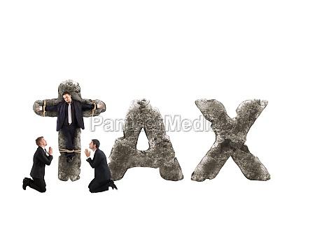 crucifix by tax