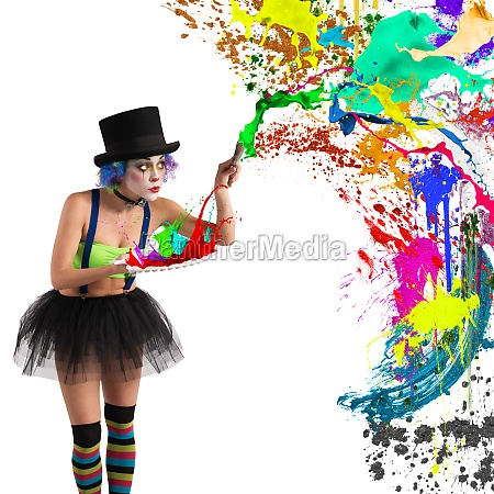 painter clown