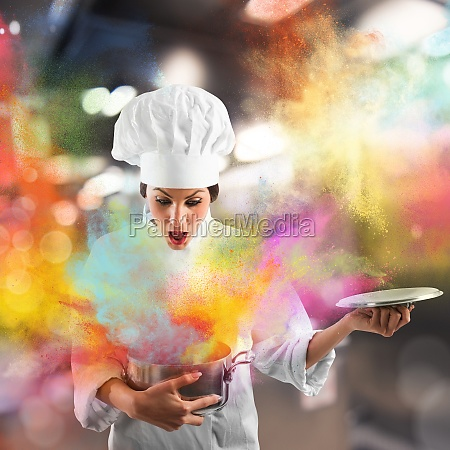 explosion of colors in the kitchen