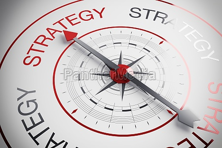 3d illustration strategy compass