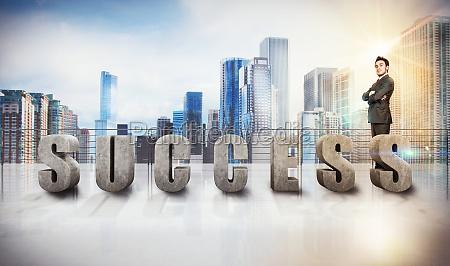 businessman success view