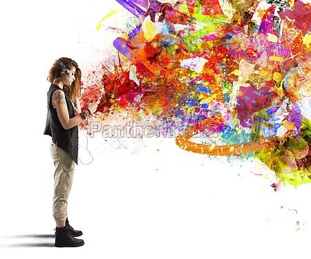 music colour style