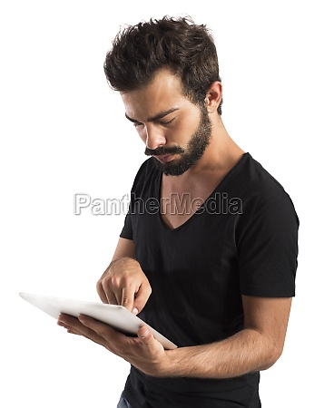 internet with tablet