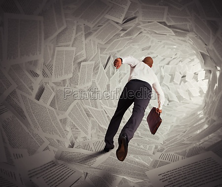 tunnel of paper