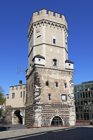 the bayenturm medieval fortified tower of