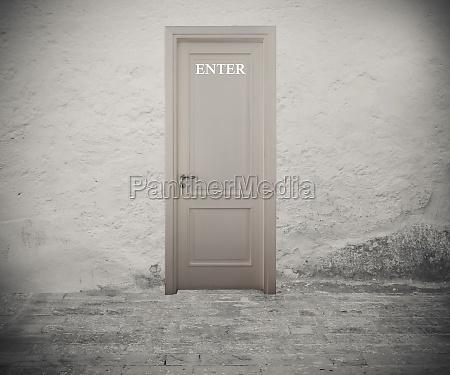 enter door