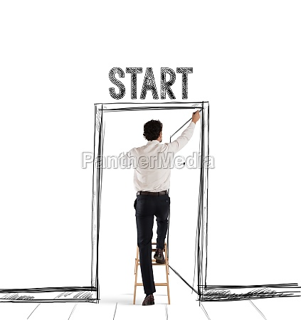 start door