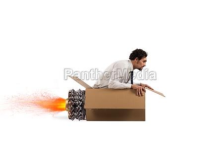 cardboard missile