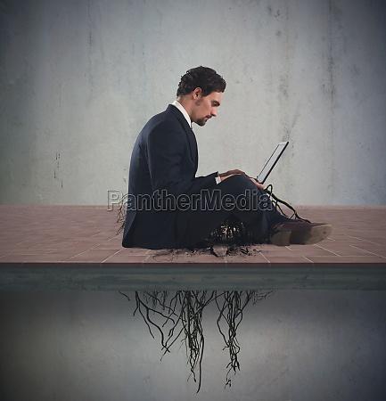 internet addiction concept