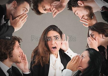 gossip among many people