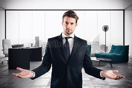businessman luxury office