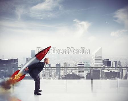 determination and power businessman