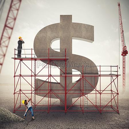 strengthen american economy 3d rendering
