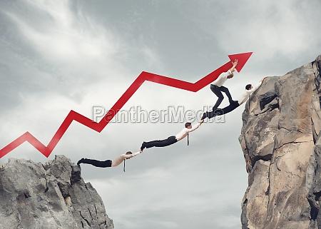 businessmen bridge working together for the