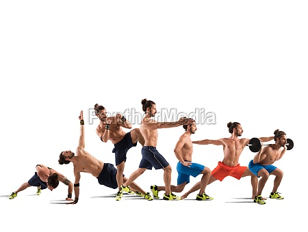 pilates and fitness workout