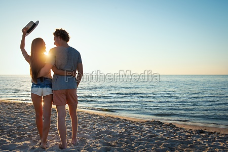 young couples during sunrise at the